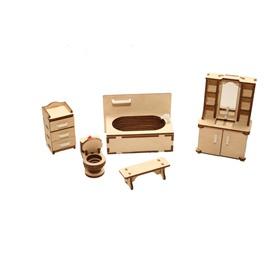 """ХэппиДом Мебель для кукольного домика ХэппиДом """"Ванная"""" из дерева"""