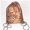 Сумка-рюкзак для сменной обуви мишки на бежевом