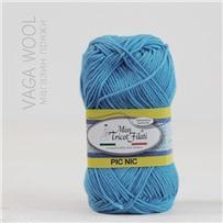 Пряжа Pic-Nic 13 Голубой яркий 115м/50гр., хлопок 100%, Miss Tricot Filati