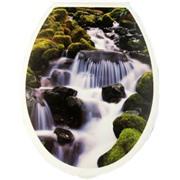 Сиденье д/унитаза (жесткое) Водопад