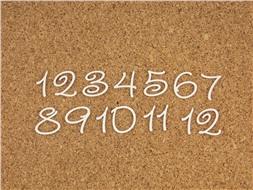 Набор цифр от 1 до 12 (3)