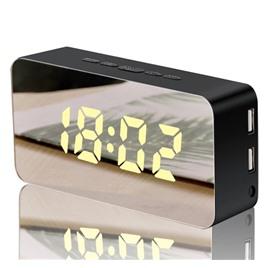 li&tai Электронные многоцветные зеркальные настольные RGB-LED часы li&tai SLT-9005 (голубые)