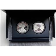 США серебро либерти 2012 пруф 1+1 доллар набор