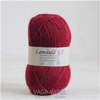 Пряжа Lamauld Красный 6061, 100м/50г, CaMaRose, Rod