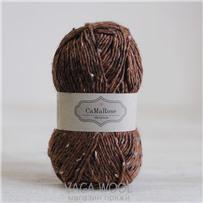 Пряжа Lama Tweed Каштановый 6412, 100м/50г, CaMaRose, Kastaniebrun