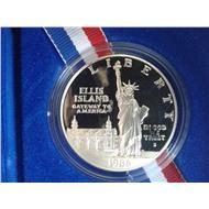 США 1 доллар статуя свобода факел 1986 серебро