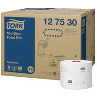 Туалетная бумага Tork Mid-size Advanced в миди рулонах (T6), 127530