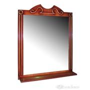 Зеркало в деревянной раме с полочкой Потап-75