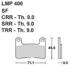 Колодки дискового тормоза AP Racing LMP406 SF - Suzuki GSX-R 750