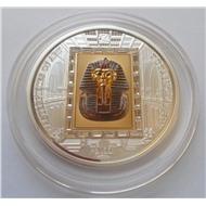 Острова Кука 20 долларов, 2011 год. Золотая маска Тутанхамона