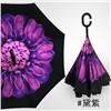 Зонт-наоборот антизонт с кнопкой Сиреневый цветок