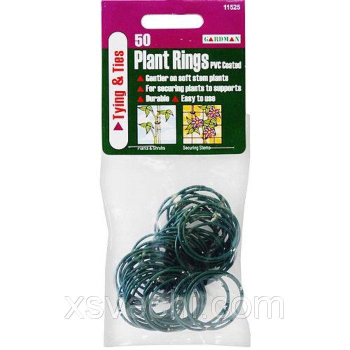 Кольца для подвязки растений, набор 50 шт., зелёные