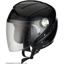 Открытый шлем с большим стеклом HX91 чёрный M