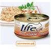 """Консервы """"Lifecat"""" для кошек курица с сурими в бульоне 70гр."""