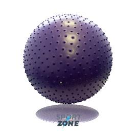 Гимнастический мяч с массажным эффектом 75 см с насосом