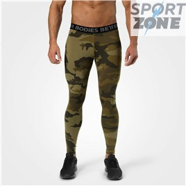 Мужские лосины Better Bodies Hudson Logo Tights, Dark green camo