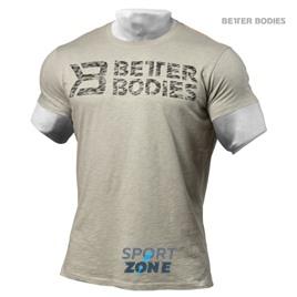 Футболка мужская Better bodies Symbol printed, светло-серый