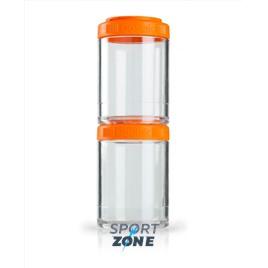 Шейкер для спортивного питания BlenderBottle GoStak оранжевый
