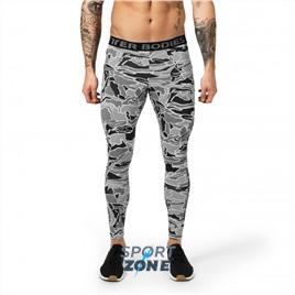 Мужские лосины Better Bodies Astor tights, Grey Print