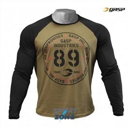 Футболка с длинным рукавом GASP Raglan Long Sleeve Tee, Military Olive/Black
