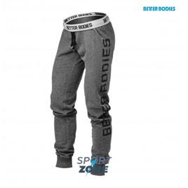 Спортивные штаны хлопок Better bodies Slim sweatpant, антрацит
