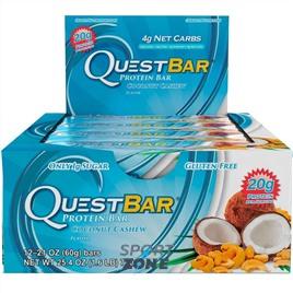 Батончик протеиновый QuestBar Coconut Cashew (12 шт)