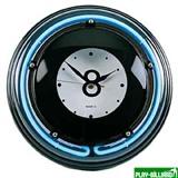 """Часы настенные """"Восьмерка"""" (неон) D35см, интернет-магазин товаров для бильярда Play-billiard.ru"""