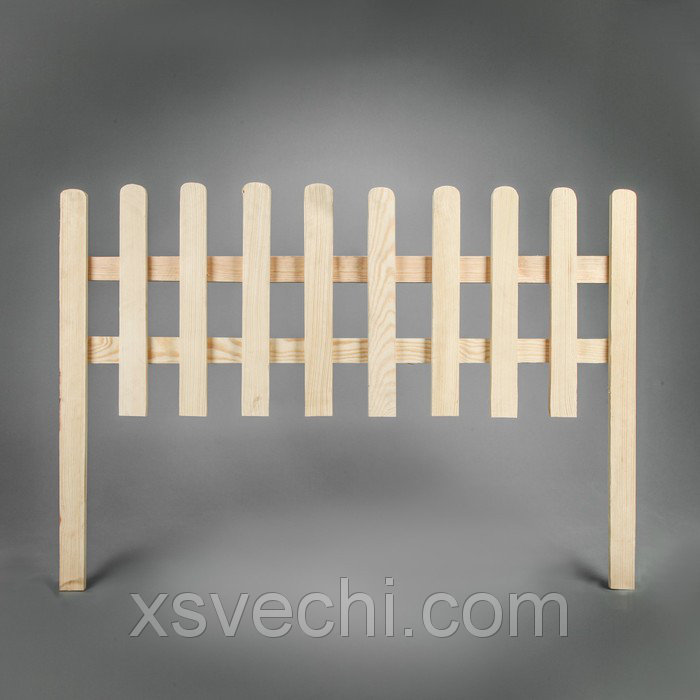 """Забор садовый """"Закругленный"""" 40 х 100 см, сосна"""