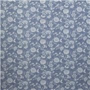 Henley / Bird Garden Print  Denim Ткань
