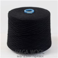 Пряжа Coast Черный 031, 350м в 50г, Knoll Yarns, Black