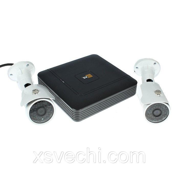Комплект видеонаблюдения SVIP-Kit202S, IP, 1080Р (FullHD), 2 уличные камера