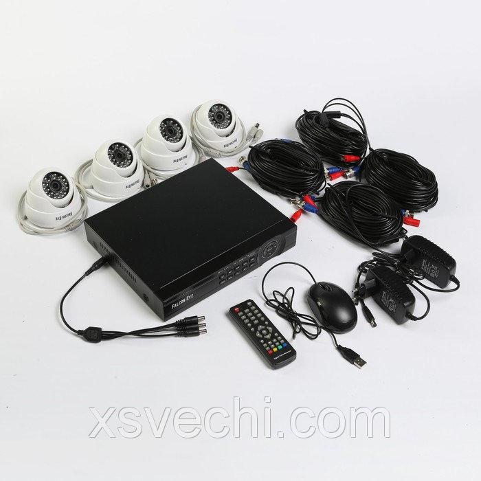 Комплект видеонаблюдения Falcon Eye FE-104MHD KIT Дом, 1 Мп, 720Р (HD), 4 внутренние камеры
