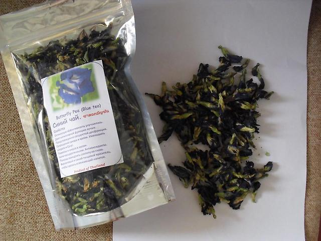 синий чай butterfly pea