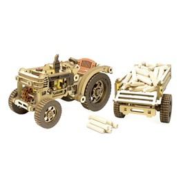 M-WOOD Конструктор 3D деревянный M-WOOD Трактор с прицепом HARDY