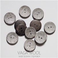 Пуговица 30 мм, кокосовая серебро, ПК Е-67