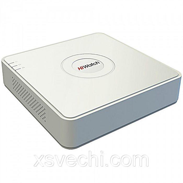 Видеорегистратор гибридный Hiwatch DS-H104Q, TVI/AHD, 4 каналa, 1080 Р