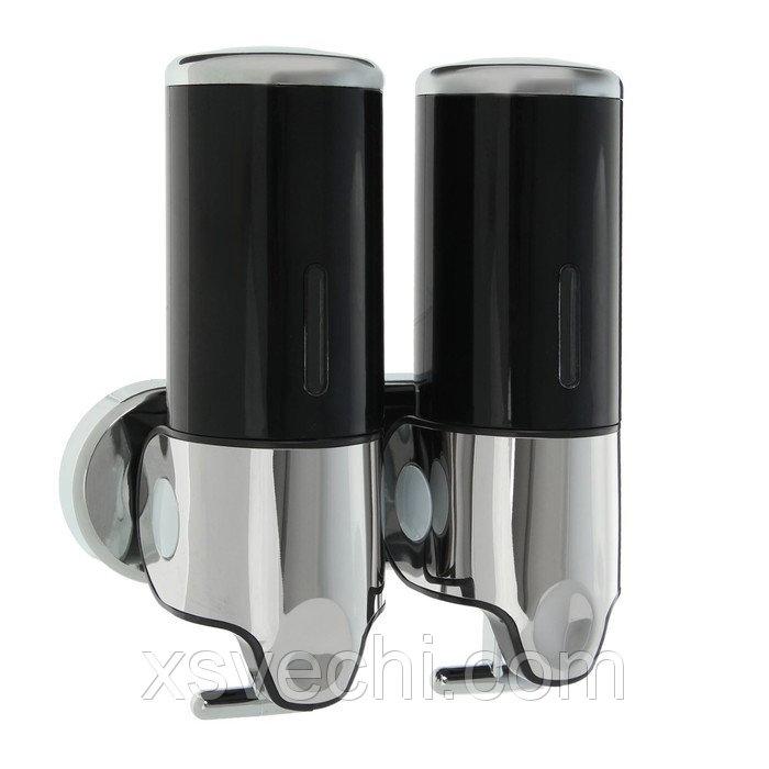 Диспенсер жидкого мыла механический 800 мл, металл, черный