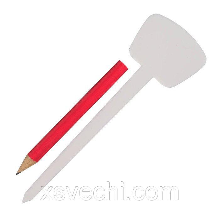 Набор садовый для маркировки: ярлыки Т-образные, длина 12.5 см - 25 шт,, карандаш, GRINDA