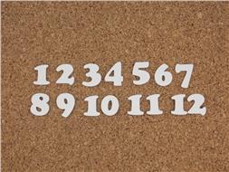 Набор цифр от 1 до 12 (4)