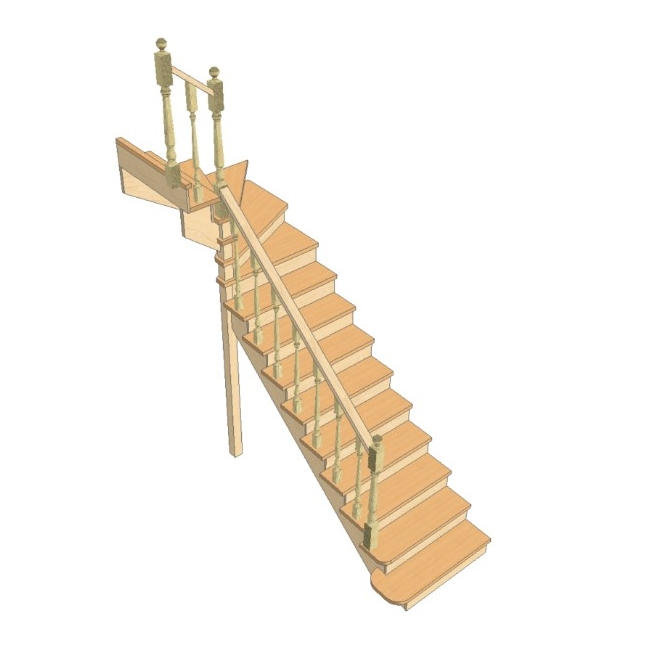Лестница своими руками с поворотом на 90 301