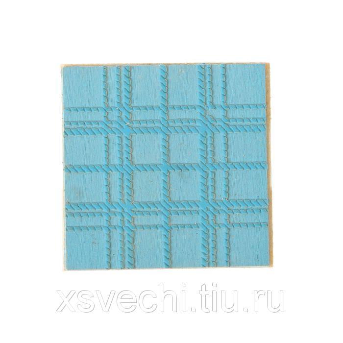 "Штамп фоновый ""Шотландка"" резина, 4х6 см  (ШТ-22)"