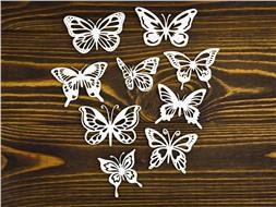 Набор крупных бабочек