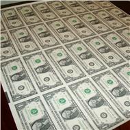 1 доллар Лист из 32 купюр