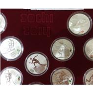 16 монет в коробке Олимпиада в Сочи 2014