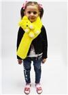 Меховой шарф Мишка для взрослых и детей Желтый