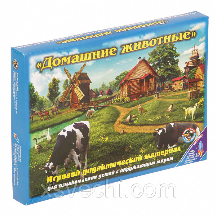 """Обучающая игра """"Домашние животные средней полосы"""" 1032"""