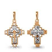 Крест золотой с вставками № 20439, золото 585°
