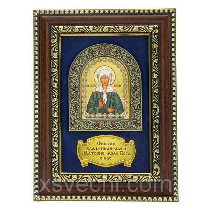 Икона Матроны Московской в деревянной рамке