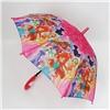 Зонт детский полуавтомат Винкс со свистком №40