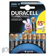 Батарея DURACELL ААA/LR03-8BL TURBO Max бл/8